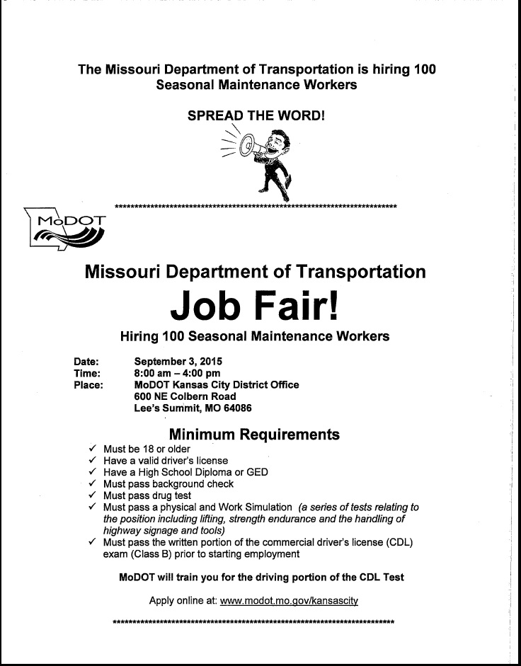 MoDOT Job Fair