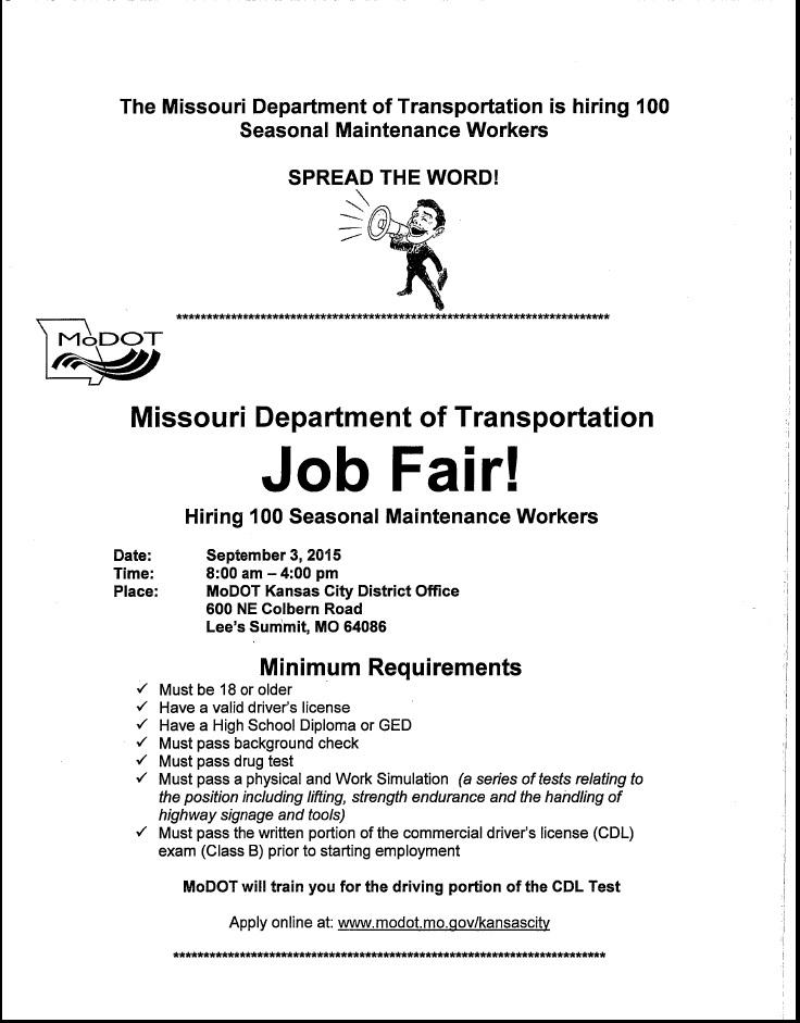 MoDOT Job Fair